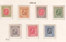 Original Gum Icelandic Stamps