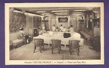 SS Ile de France B&W Postcard - Theater - French Line