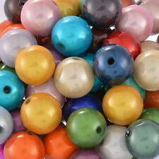 100 Mixte Perles Magique Acrylique Multicolore Ronde 10mm