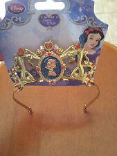 Disney-Store-Princess-Headband-Tiara-Snow-White-Pretend-Play-Red-Stones-Gold-New