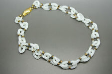 Vintage Archimede Seguso white beaded glass necklace