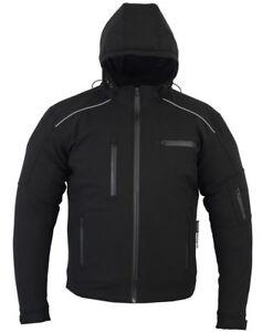 BUSA Bikers Gear Motorcycle Soft Shell Waterproof Hoodie CE Armour APEX Jacket