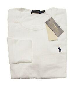Polo Ralph Lauren Men's White Spa Terry Raglan Pullover Sweatshirt