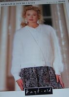 Hayfield Knitting Pattern Lady's Mohair & DK Crossover Cardigan No 00418