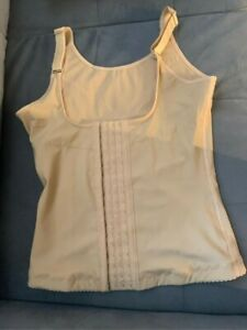 Vintage Dress Barn Firm Control Camisole Front Close Tank Top Nude 2 X Large