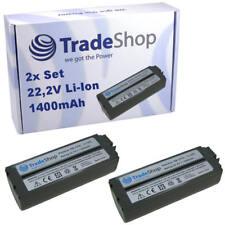 2x Trade-Shop AKKU 22,2V 1400mAh Li-Ion ersetzt NB-CP1L NB-CP2L NB-2CPL CS-CP2L