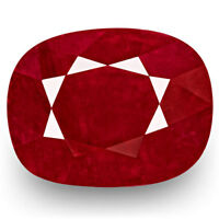GRS Certified BURMA Ruby 4.79 Cts Natural Untreated Deep Red Cushion