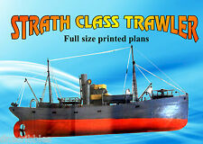 Model Boat Full Size Printed Plan & Article STRATH CLASS TRAWLER 4 Radio Control