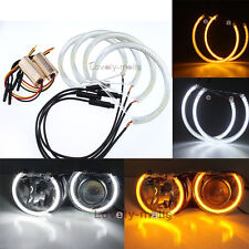 Dual Color WH&YE SMD LED Halo Ring For BMW E90 E91 Non-projector Angel Eyes DRL