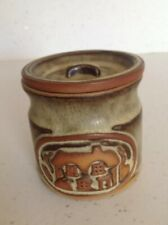 Tremar Pottery Small Storage Jar; Cottage Design; With Pottery Lid Perfect Cond