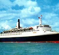 Queen Elizabeth 2 QE2 Cunard Line Cruise Ship Passenger Vintage Postcard 4