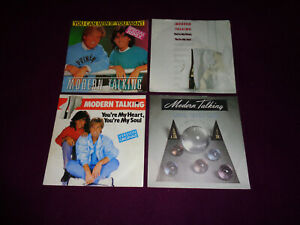 LOT DE 4 SP MODERN TALKING  / SYNTH POP