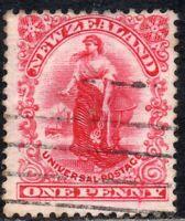 New Zealand 1906 Sg 360 1d bright rose-carmine 14x14½ (comb) Fine Used