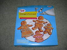 TALA SET of FOUR GINGERBREAD FAMILY COOKIE CUTTERS ~ New and Boxed ~ Piping Bag