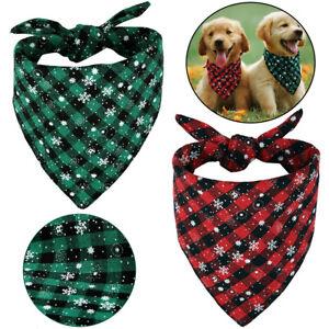 Pet Scarf Cat Dog Bandana Handkerchiefs Bibs Costume Festival Puppy Christmas