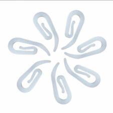 White 100Pcs Curtain Hooks Drapery Universal for Bathroom Door Curtain Hanging