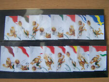 PORTUGAL,2004 EUROPEAN FOOTBALL CHAMPIONSHIPS,16 VALS COMPLETE,F/USED,EXCELLENT.