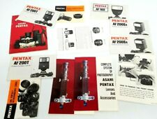 lot of PENTAX camera accessories lenses flashes Owner's Manual Instructions book