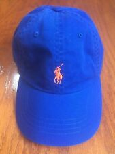 POLO RALPH LAUREN ROYAL BLUE CHINO CLASSIC 6 PANEL HAT COTTON TWILL SPORTS CAP