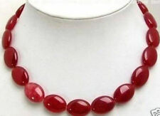 """Stunning natural 13x18 mm oval gemstone necklace knot 18 """""""