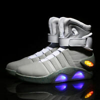 Mens Back to Future Shoes Marty McFly Air Mags Shoes Xcoser Light Up Sneakers