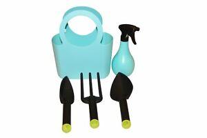 Kunststoff Gartengeräte Set 5-teilig blau