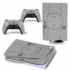 PS1 Retro Skin Sticker Decals For Sony PS5 Console &Controllers (Disc)