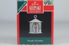 Hallmark '1992 Friendly Tin Soldier' Pressed Tin Miniature Ornament New In Box!