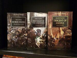 Horus Rising, Flight of the Eisenstein, Descent of Angels Warhammer 40k PB x 3
