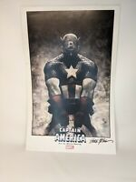 Steve Epting Signed Captain America Print