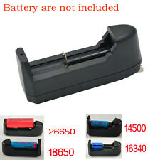 US Plug 100-220V For 18650 14500 16430 10440 Rechargeable Li-Ion Battery Charger