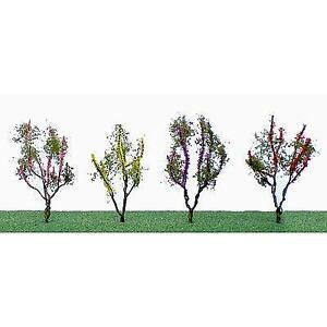JTT SCENERY FLOWER TREES (RED, PINK,YELLOW ,PURPLE) RAILROAD TREES 95504