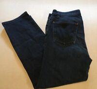 Eileen Fisher Womens Jeans Straight Legs Blue Denim Pants Size 12