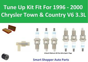 PCV valve Filter Spark Plugs Tune Up For 1996 -2000 Chrysler Town & Country 3.3L