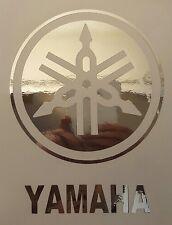 "Yamaha drums drumhead logo,, die cut decal, sticker, CHROME 6""X4.6"""