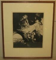 Vintage RICHARD LYTLE 'The Transient' ABSTRACT Etching - Listed YALE Univesity