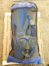 US DIVERS PRO SILICONE -  FINS, SNORKEL, MASK, TRAVEL BAG - ADULT /MED