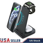 For Apple Watch Serie Air Pods iPhone Station 3 in 1 Charging Dock Charger Stand