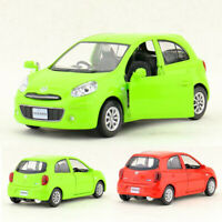 1:36 Nissan March Metall Die Cast Modellauto Spielzeugauto Pull Back Kinder