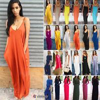 Women Long Maxi Dress Summer Beach Evening Party Casual Boho Sundress Plus Size
