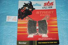 2 plaquette de frein Arr. SBS Triumph STREET TRIPLE DAYTONA 675 R Yamaha XT 660
