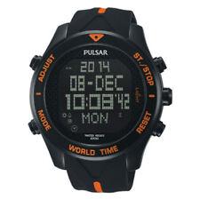 Pulsar Hommes Digital Chronographe Montre à Bracelet en Résine PQ2037X1-PNP
