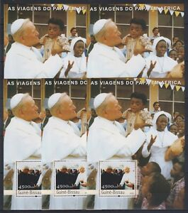 P455. 5x Guinea-Bissau - MNH - Famous People - Pope in Africa - 2003 - Bl. - 2