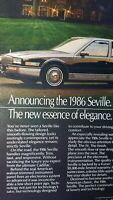 1986 Cadillac Seville Best of All Original Advertisement Print Art Car Ad