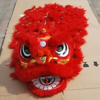 Lion Dance Mascot Costume red wool Chinese Folk art Southern Lion For two adult