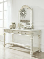 Ashley Traditional Wood Makeup Vanity Mirror only Pearl Silver Finish B750-25
