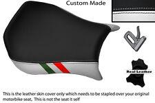 WHITE & BLACK CUSTOM ITALIAN FLAG FITS DUCATI MONOPOSTO 748 916 996 998 COVER