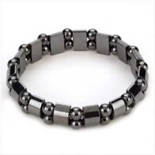 Magnetic Hematite Bracelet Pain Relief Powerfull Elastic Therapy Arthritis G5