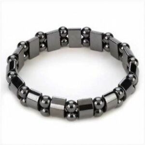 Magnetic Hematite Bracelet Pain Relief Powerfull Elastic Therapy Arthritis G5