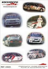 decal 1/43 MITSUBISHI GALANT VR4 MC + RAC 1988 VATANEN/BERGLUND  Koko Racing 023